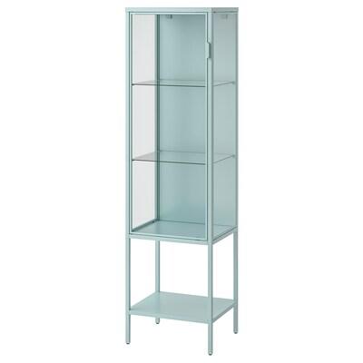 RUDSTA Glass-door cabinet, light turquoise, 42x37x155 cm