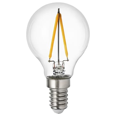 RYET لمبة LED E14 100 lumen, كرويّة شفاف
