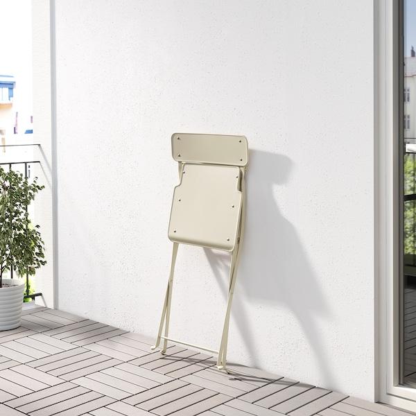 SALTHOLMEN chair, outdoor foldable beige 110 kg 42 cm 46 cm 83 cm 38 cm 35 cm 46 cm
