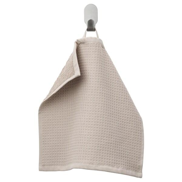 SALVIKEN منشفة صغيرة, بيج غامق, 30x30 سم