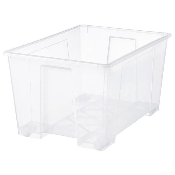SAMLA صندوق, شفاف, 78x56x43 سم/130 ل