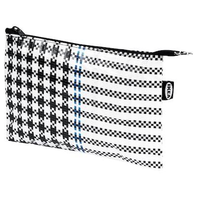 SAMMANKOPPLA حافظة, أسود/ أبيض, 16x24 سم