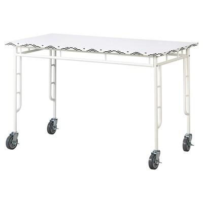 SAMMANKOPPLA طاولة, أبيض/أسود, 120x60 سم