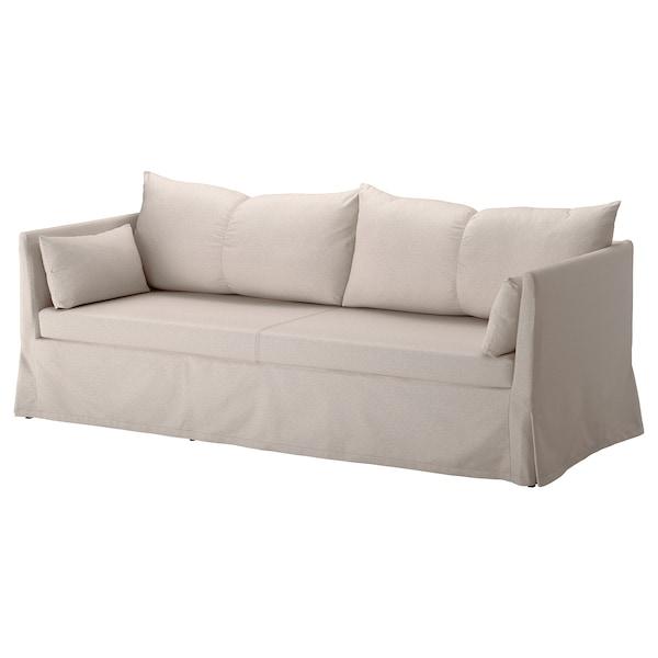 SANDBACKEN 3-seat sofa, Lofallet beige