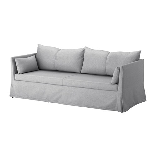 Sandbacken cover for 3 seat sofa frillestad light grey ikea Sofa hussen stretch