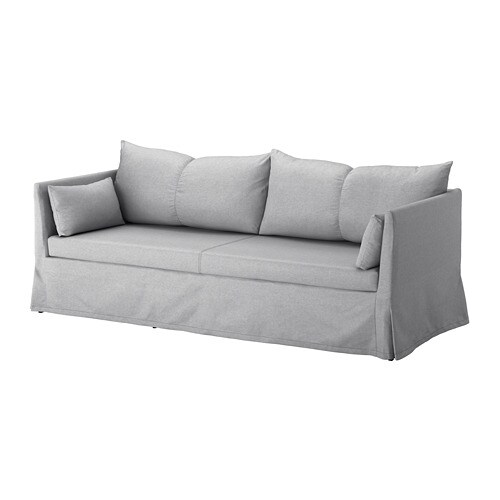 sandbacken cover for 3 seat sofa frillestad light grey. Black Bedroom Furniture Sets. Home Design Ideas
