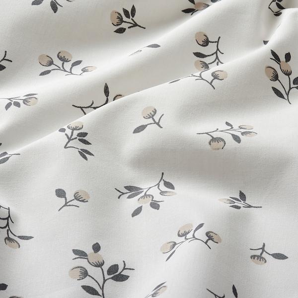 SANDLUPIN ملاءه تثبيت, نقوش نباتية, 160x200 سم