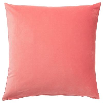 SANELA غطاء وسادة, أحمر-بني فاتح, 65x65 سم