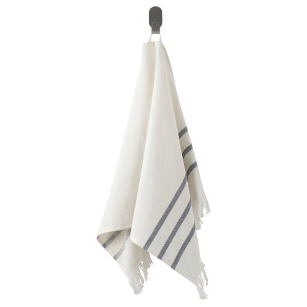 SIESJÖN Hand towel, white/blue stripe, 40x70 cm