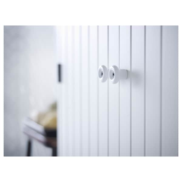 SILVERÅN / LILLÅNGEN Wash-basin cabinet with 2 doors, white/Ensen tap, 62x27x94 cm