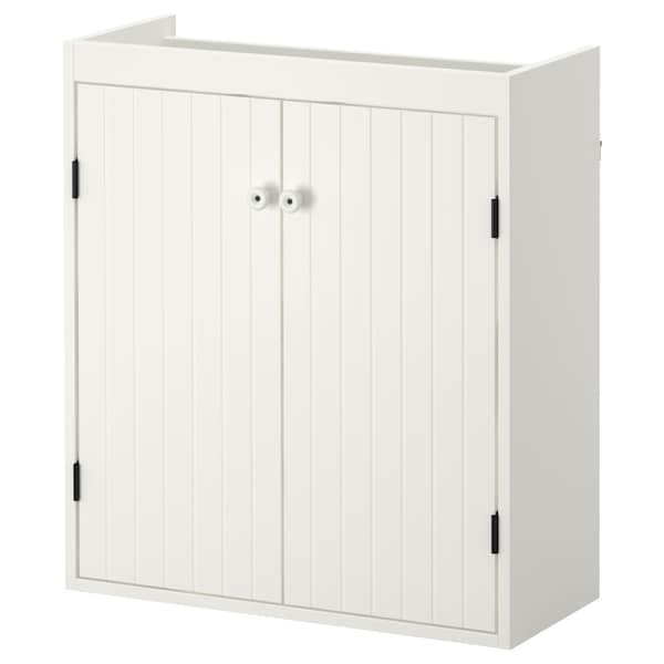 SILVERÅN Wash-basin cabinet with 2 doors, white, 60x25x68 cm