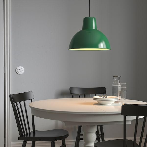 SKURUP Pendant lamp, dark green, 38 cm