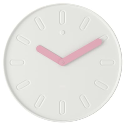 SLIPSTEN Wall clock, white, 35 cm