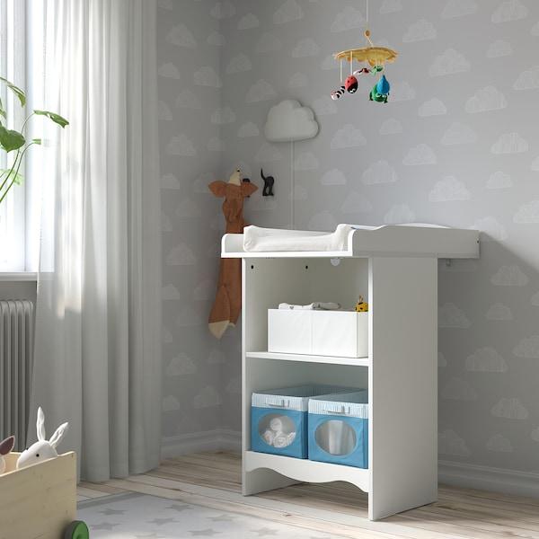 SMÅGÖRA Changing table/bookshelf, white