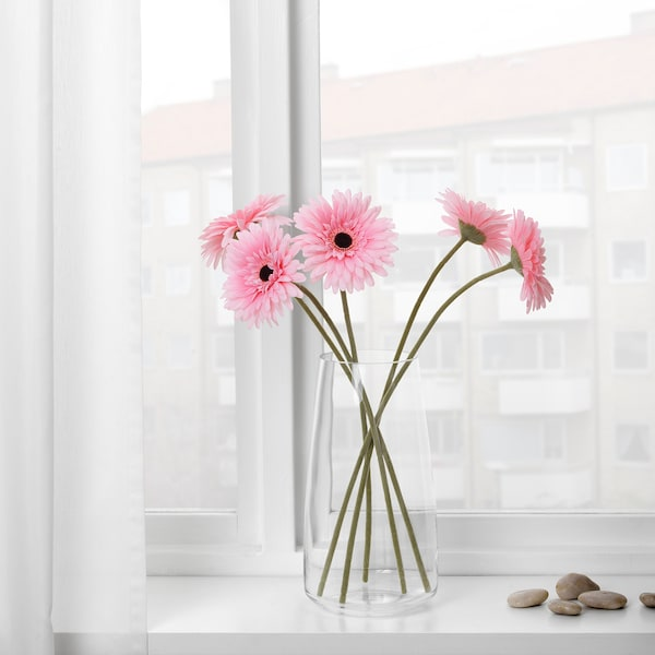SMYCKA Artificial flower, Gerbera/pink, 50 cm