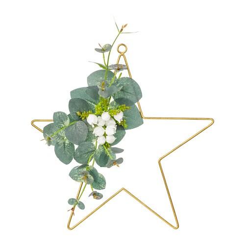SMYCKA Artificial wreath, in/outdoor, star