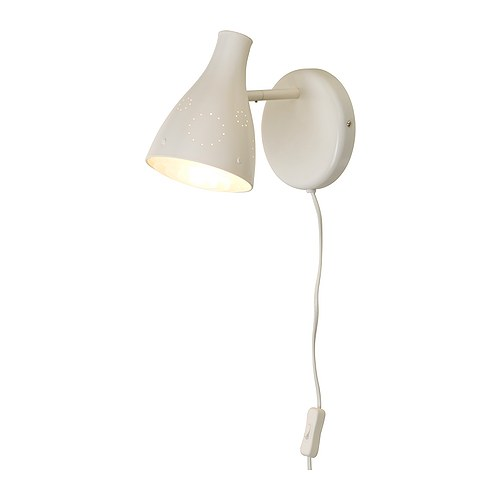 SNÖIG Wall lamp, white