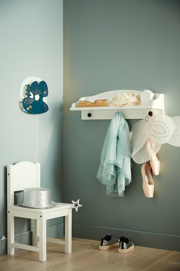 SOLGUL Wall shelf, white, 60x19 cm