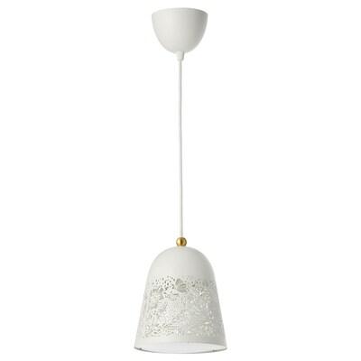 SOLSKUR مصباح معلّق, أبيض/لون نحاسي