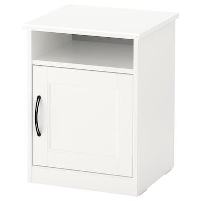 SONGESAND طاولة سرير جانبية, أبيض, 42x40 سم
