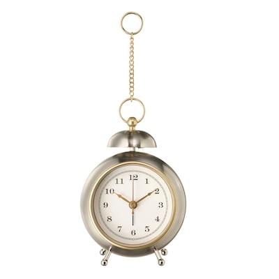 SPARLÅGA Alarm clock, silver-colour, 16 cm