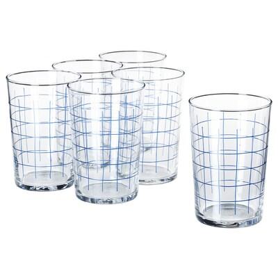 SPORADISK كأس, زجاج شفاف/نقش كاروهات, 46 سل