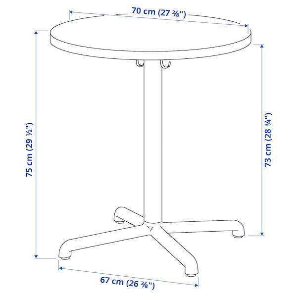 STENSELE طاولة, فحمي/فحمي, 70 سم