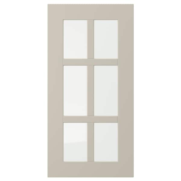 STENSUND Glass door, beige, 30x60 cm