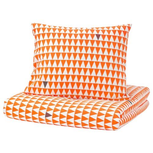 STILLSAMT quilt cover and pillowcase light orange 144 /inch² 200 cm 150 cm 50 cm 80 cm