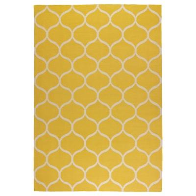 STOCKHOLM سجاد، غزل مسطح, صناعة يدوية/نقش صافي أصفر, 170x240 سم