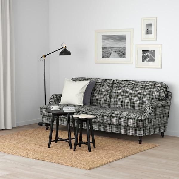 STOCKSUND كنبة 3 مقاعد, Segersta عدة ألوان/أسود/خشبي