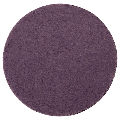 STOENSE Rug, low pile, purple, 130 cm
