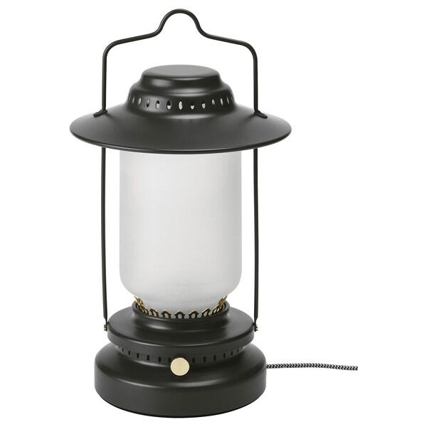 STORHAGA مصباح طاولة LED, خافتة للضوء خارجي/أسود, 35 سم