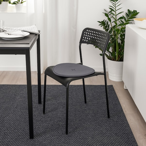 STRÅFLY لبادة كرسي, رمادي غامق, 36 سم