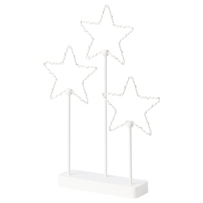 STRÅLA LED table decoration, battery-operated/star 3