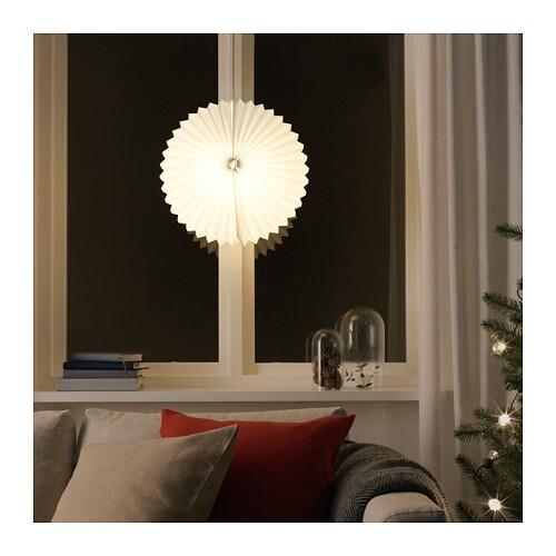 STRÅLA Pendant lamp shade, origami, white