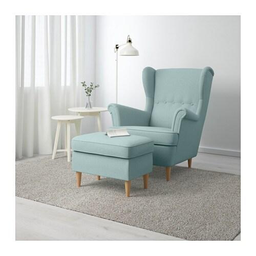 Strandmon Footstool Lingbo Multicolour Ikea