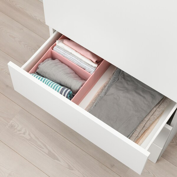 STUK Box with compartments, pink, 20x34x10 cm