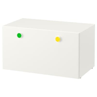 STUVA / FÖLJA مصطبة تخزين, أبيض, 90x50x50 سم
