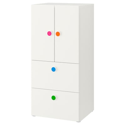 STUVA / FÖLJA تشكيلة تخزين مع أبواب/ أدراج, أبيض, 60x50x128 سم