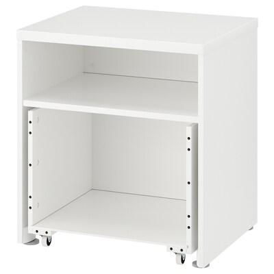 STUVA Frame with box on wheels, white, 60x50x64 cm