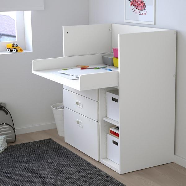 STUVA / FRITIDS طاولة تغيير مع أدراج, أبيض/أبيض, 90x79x102 سم