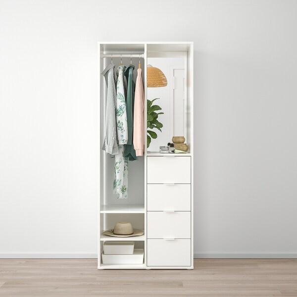 SUNDLANDET دولاب ملابس مفتوحة, أبيض, 79x44x187 سم