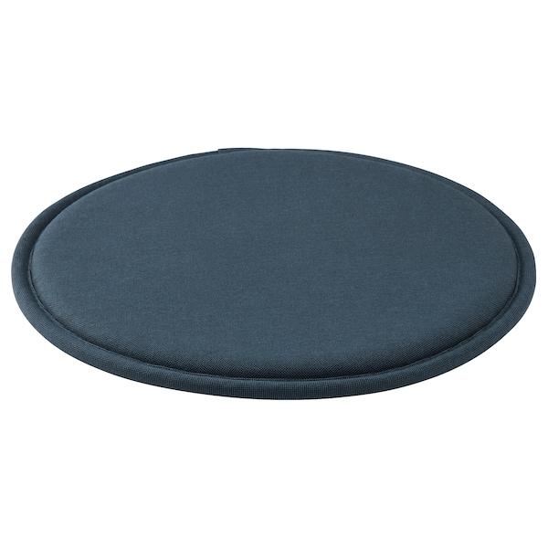 SUNNEA Chair pad, black-blue, 36x2.5 cm