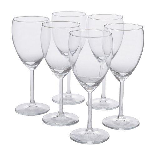 SVALKA White wine glass, clear glass