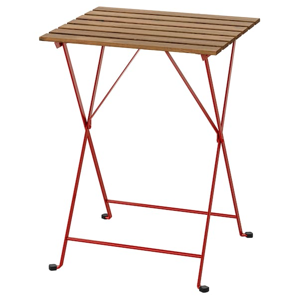 TÄRNÖ Table, outdoor, red/light brown stained, 55x54 cm