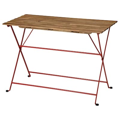 TÄRNÖ طاولة، خارجية, أحمر/صباغ بني فاتح, 100x54 سم