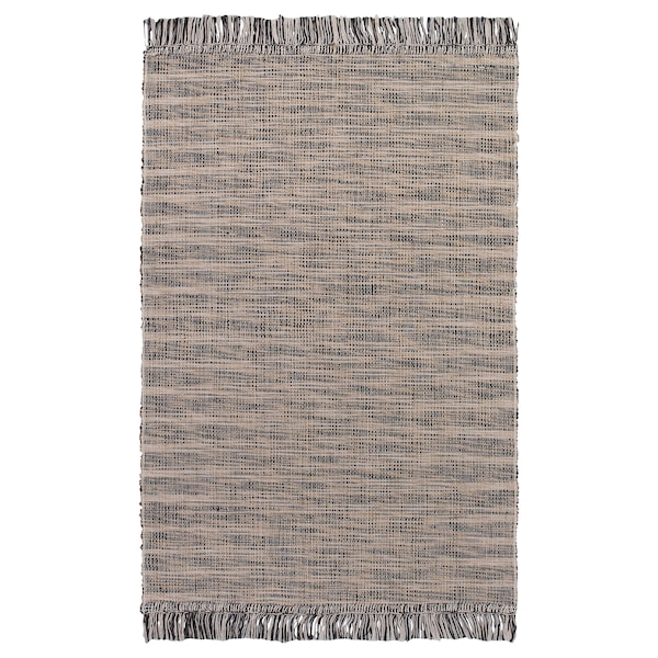 TAULOV Rug, flatwoven, beige, 60x90 cm