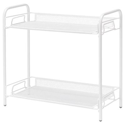 TEVALEN Storage unit, white, 36x17x33 cm