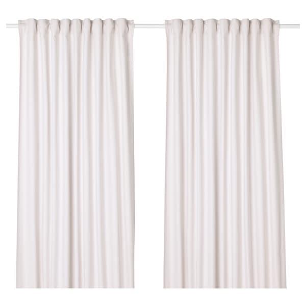 TIBAST Curtains, 1 pair, beige, 145x300 cm